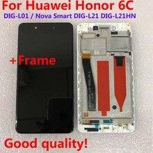 Display lcd original para huawei honor 6c DIG L01/nova inteligente DIG L21 DIG L21HN tela de toque digitador assembléia quadro com ferramentas