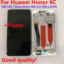 LCD Display Original For Huawei Honor 6C DIG L01 / Nova Smart DIG L21 DIG L21HN Touch Screen Digitizer Assembly Frame with Tools