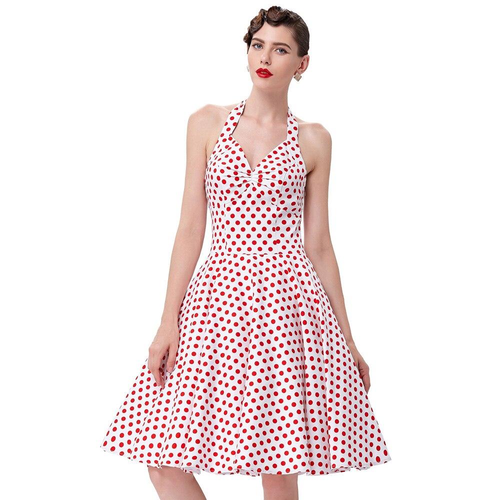Buy Cheap Summer Women Dress 2016 Polka Dots Print Casual Vstidos Sleeveless Vintage 50s 60s Dresses Swing Pinup Rockabilly Dress Cheap