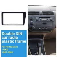 Seicane Double Din Car Radio Fascia for 2001 2005 Honda Civic LHD Dash Mount DVD Frame Auto Stereo Adaptor Radio Installation