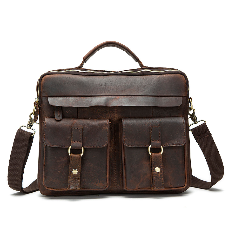 CHISPAULO Crazy Horse Genuine Leather Bag Tote Laptop Briefcases men Messenger bag 2017 NEW laptop business  Brand New hot T658 casio mtd 1072 3a