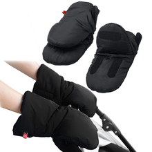 Hot 1 Pair Baby Pram Stroller Gloves Warm Fleece Pushchair Hand Gloves Baby Buggy Clutch Cart Muff Gloves Stroller Accessories