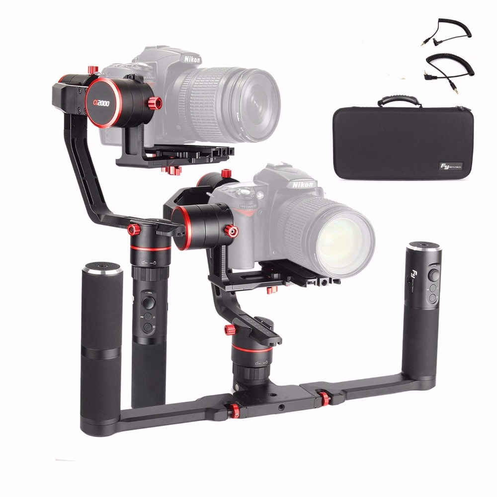 Feiyu <font><b>a2000</b></font> With Dual Handle Grip 3-Axis <font><b>Gimbal</b></font> Stabilizer For Canon 5D IV III Sony Dslr Cameras Smartphone image