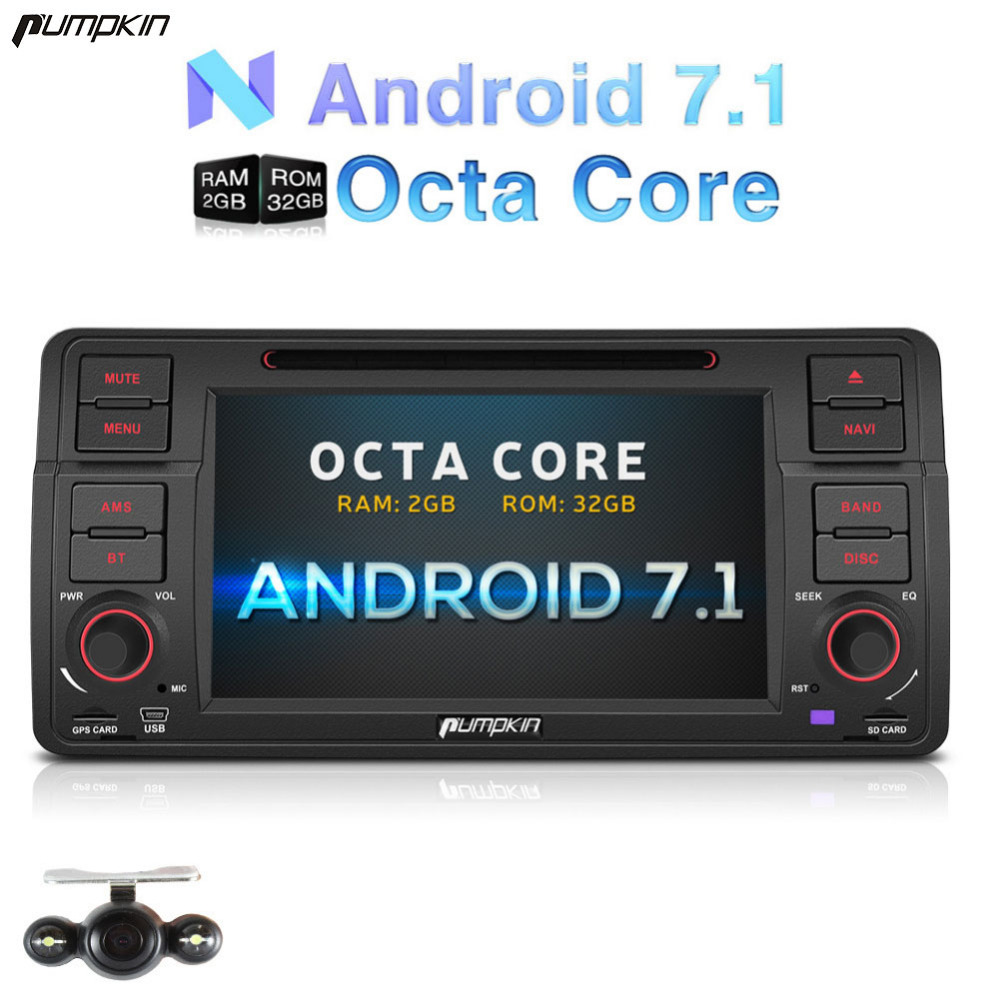 Großhandel! 2 Din 7 ''Android 7.1 Auto Dvd Für BMW E46/M3 GPS Navigation Bluetooth Auto Stereo Wifi 3G FM Rds Radio Steuergerät