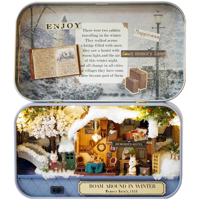 Namještaj DIY Kućica za lutke Wodden Miniatura Kućice za lutke - Lutke i pribor - Foto 1