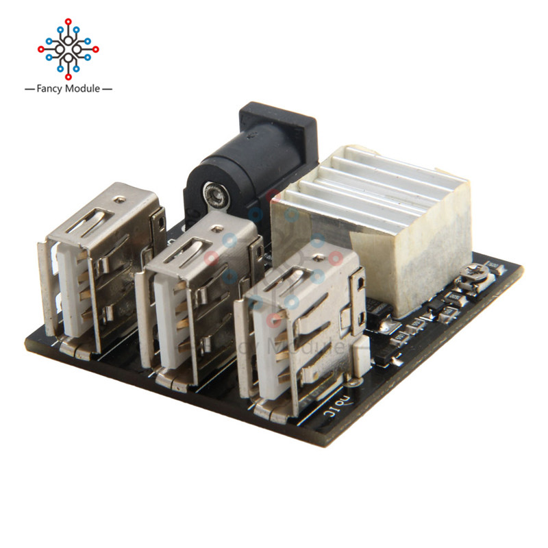 3 USB Mini Charging Module DC-DC 9V/12V To 5V 8A Step Down Power Charger Bank Board Step-Down Buck Converter For Arduino цены