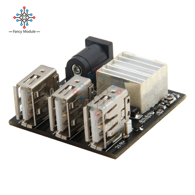 3 USB Mini Charging Module DC-DC 9V/12V To 5V 8A Step Down Power Charger Bank Board Step-Down Buck Converter For Arduino