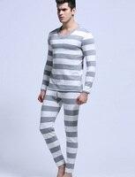 Marka erkek Iç Çamaşırı Paçalı Don Üst Gömlek Yeni Moda erkek çizgili Modal Termal İç Boyut Ml XL drop shipping