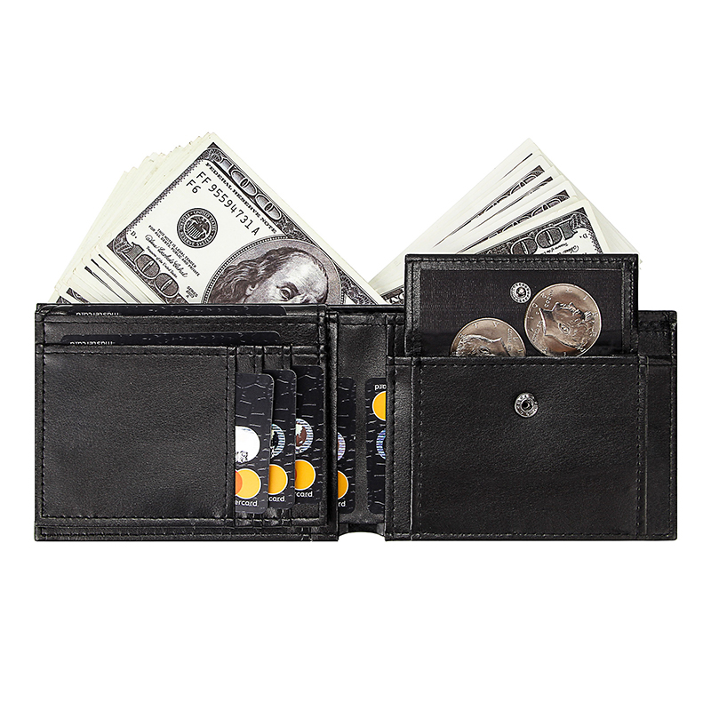 Short Wallet Clutch-Bags Coin-Purse Id-Card-Holders Black Men's Mini with Business Male