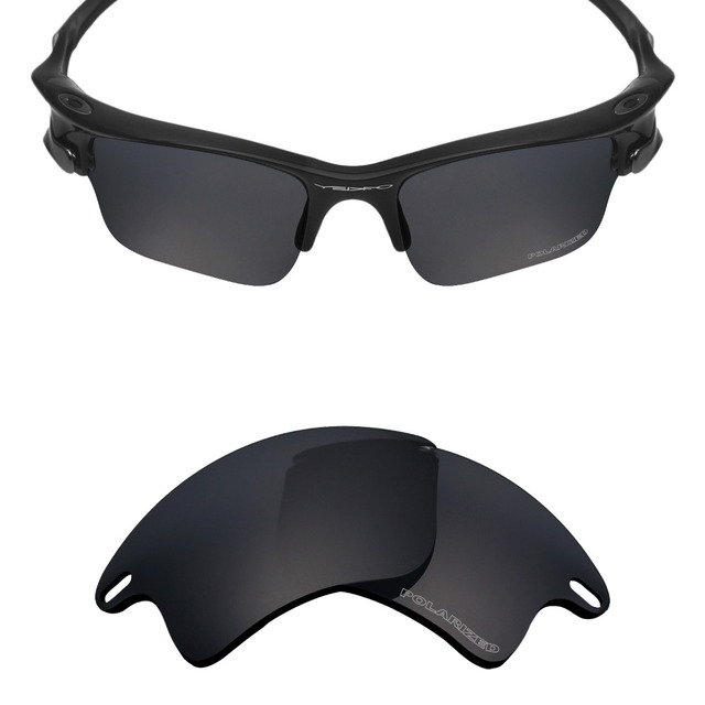 8704cda881 Mryok+ POLARIZED Resist SeaWater Replacement Lenses for Oakley Fast Jacket  XL Sunglasses Stealth Black