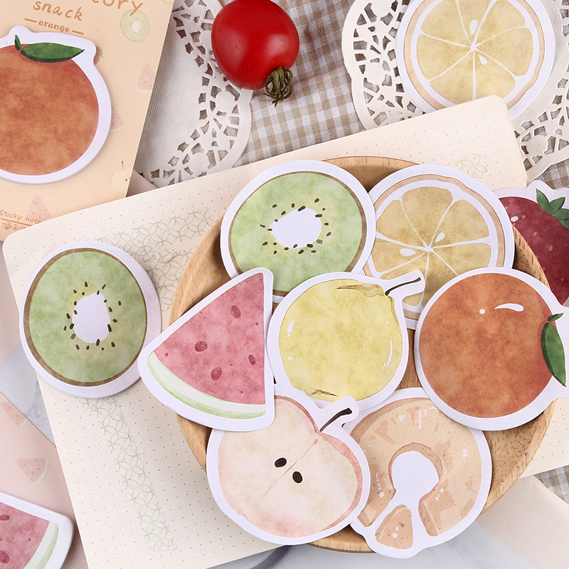 Kawaii Fruit Story Series Sticky Notes Memo Pad Diary Stationary Flakes Scrapbook Decorative Cute Nordic Style N Times Sticky
