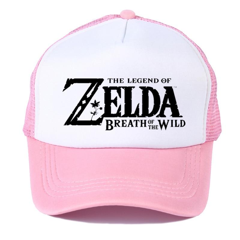 Dynamic Game The Legend Of Zelda Breath Of The Wild Skyward Sword Symbol Black Mesh Trucker Cap Baseball Cap Hat Cosplay Costume Cool Good Reputation Over The World Apparel Accessories