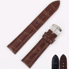 neway Durable Leather Watch Band Strap Wrist Watchband Wristwatch Black Brown for Man Woman 16mm 18mm 20mm 22mm