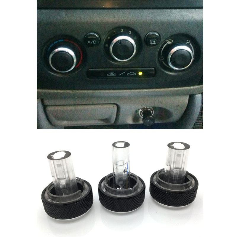 For Mazda 323 Allegro Familia 626 protege Haima Happin Family Air Conditioning Knob Aluminum Alloy AC Knob Heat Control Button