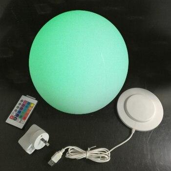 20 Cm RGB Bulat Gboble Kolam Renang Bola Isi Ulang Bola Lampu Dekorasi Malam Tahan Air Lampu Bola Gratis Pengiriman 4 Buah/Banyak