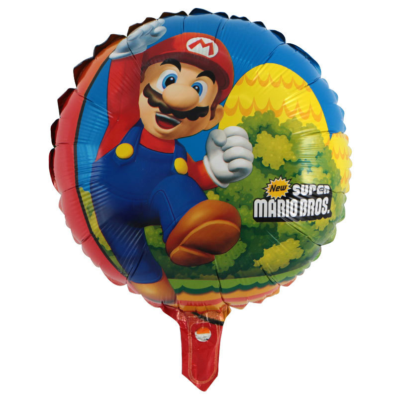 Happy Birthday Party Balloon Decoration 60x45cm Red Green Super Mario Foil Balloon 18inch Mario Helium Ball Children Classic Toy in Ballons Accessories from Home Garden