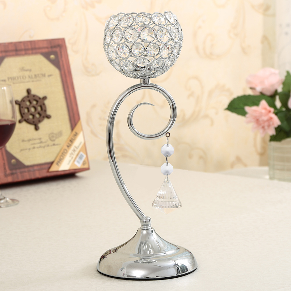 Wedding decoration crystal candle holder stand for dining for Candle centerpieces for dining room table