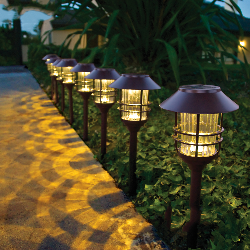 Us 46 71 5 Off Stainless Steel Gl Waterproof Led Solar Light Landscape Path Lights Garden Decoration Lamp Outdoor Lighting Guirlande Solaire In