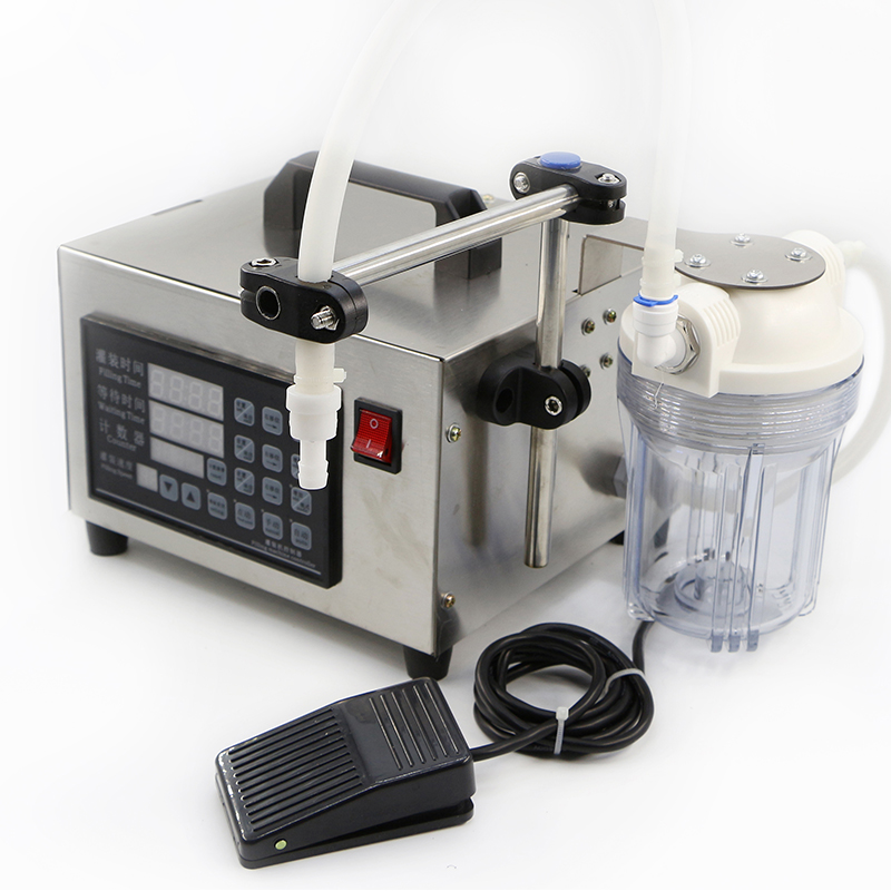 110/220V Digital Control Liquid Quantitative Liquor Filling Machine With Power-off Memory Function And Anti-dripping Discharging easy operation numerical control liquid filling machine on sale
