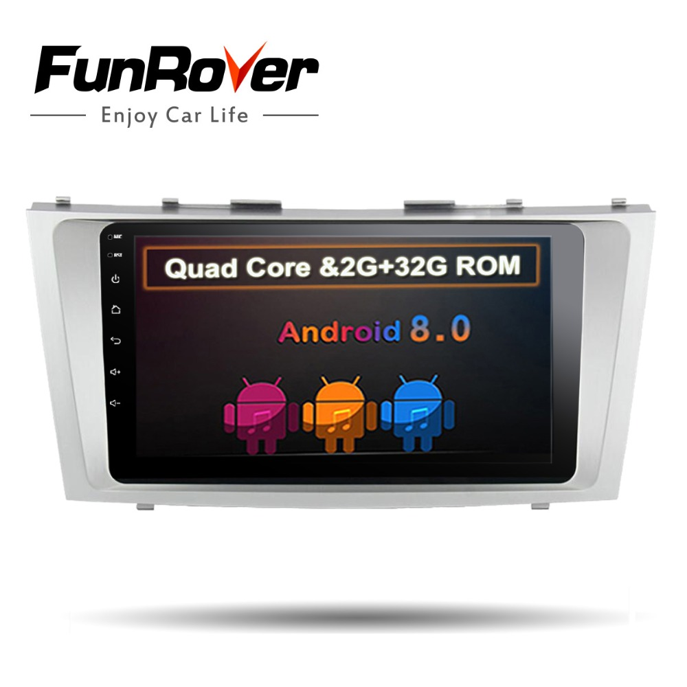 Funrover 2 din Quad Core android 8.0 car dvd gps player for toyota camry 2007 2008 2009-11 car radio steering wheel wifi 2G+32 funrover 9 2 din android 8 0 car radio multimedia dvd player gps for great wall haval h3 h5 2010 2013 glonass wifi fm quad core