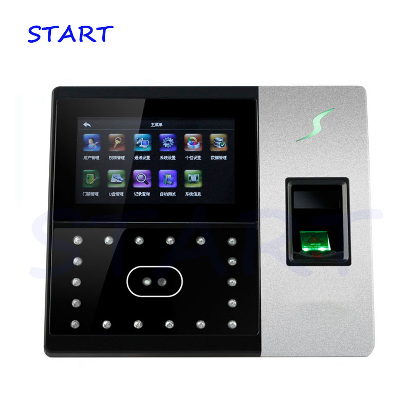 Biometric Face Recognition Face Fingerprint And Time Clock Access Control Machine IFace702 Time Attendance Time Recorder