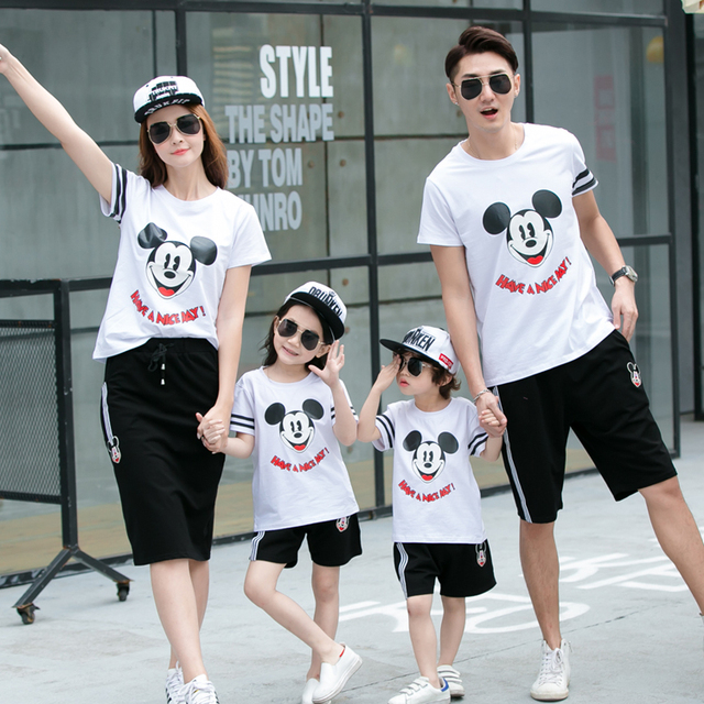 Family Matching Outfits Casual Family Clothing Mom/Mother and Daughter Father Son Clothes Clothing Family Clothing Sets GS24