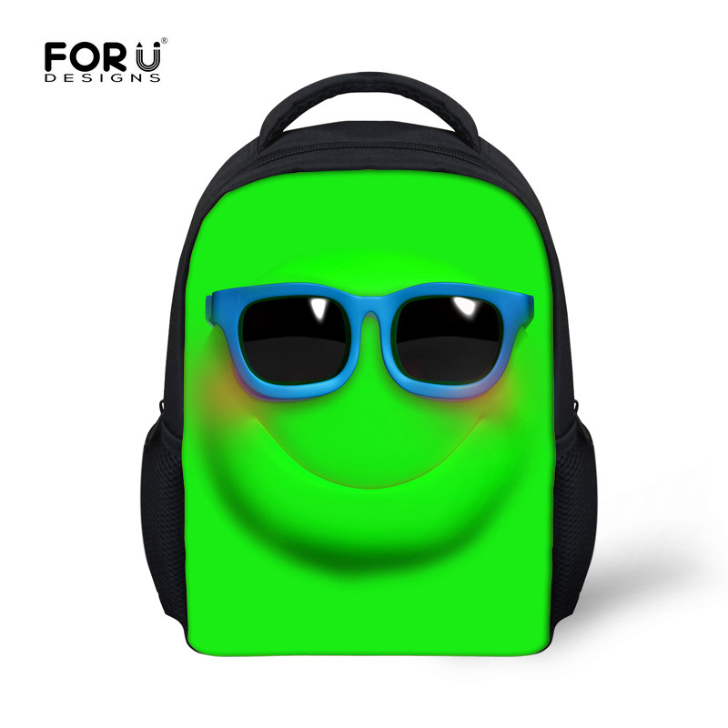 FORUDESIGNS Cute Little Student Kids School Bag Childrens Emoji Funny Book Bags For Kindergarten Baby Boy Girl Lovely Schoolbag In From Luggage