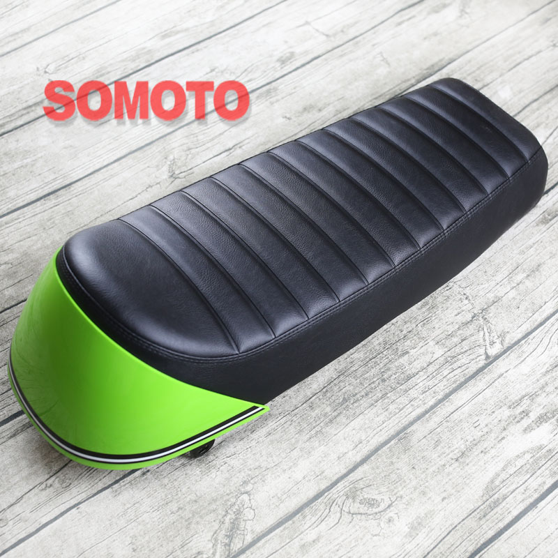 цены Black Hump Seat with indigo End 670mm Cafe Racer Motorcycle Seat Custom For Refit motorcycle