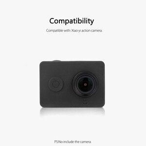 Image 3 - Vamson para xiaomi para yi acessórios à prova de poeira silicone caso protetor + tampa da lente para xiaomi para yi esporte ação câmera vp620