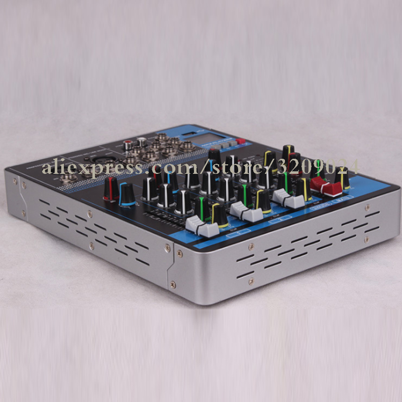 4 Channel Mini Mixer Supports Bluetooth U disk USB To Play Stereo Channel Input Wired Microphone
