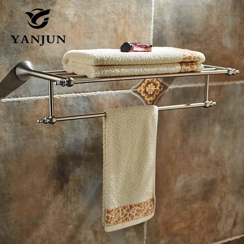 YANJUN Wall-mounted Stainless Steel 304 Towel Racks Towel Shelf Bathroom Accessories For Home YJ-7460 304 stainless steel 280 140 500mm bathroom shelf bathroom products bathroom accessories 29016