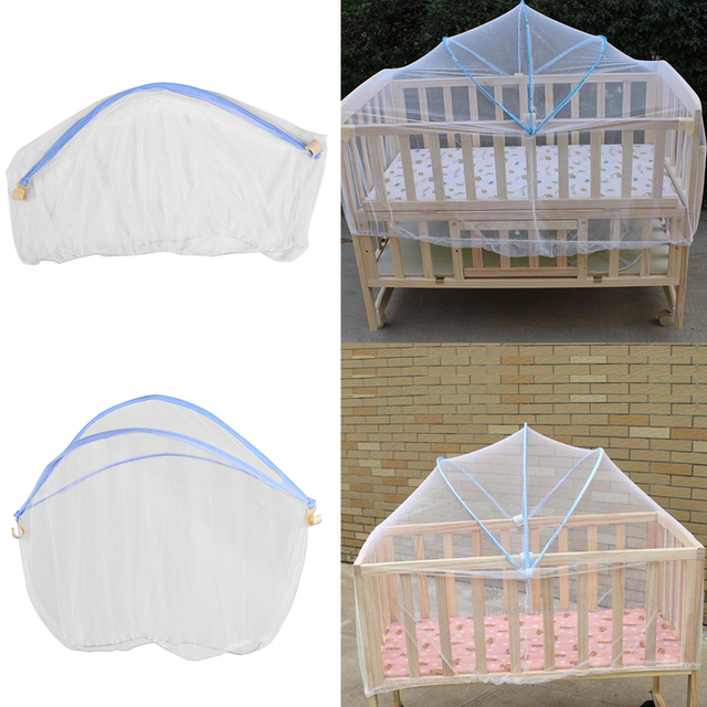 Baby Cradle Bed Mesh Mosquito Nets 2018 Foldable Summer Baby Arched Mosquitos Nets Portable Crib Netting For Infant Baby Cradle