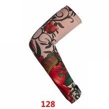 √  Новые тату рукава мужчины женщины нейлон временные тату рука теплее нарукавники популярная