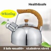 Высококачественная нержавеющая сталь звучит громко чайник со свистком соединение подошва по газовая плита или электромагнитные печь