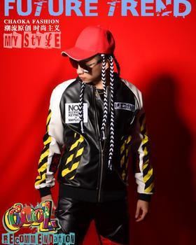 M-5XL ! New fashion splice baseball jacket coat Nightclub Men Singers Star Performance overcoat stage costumes plus size !