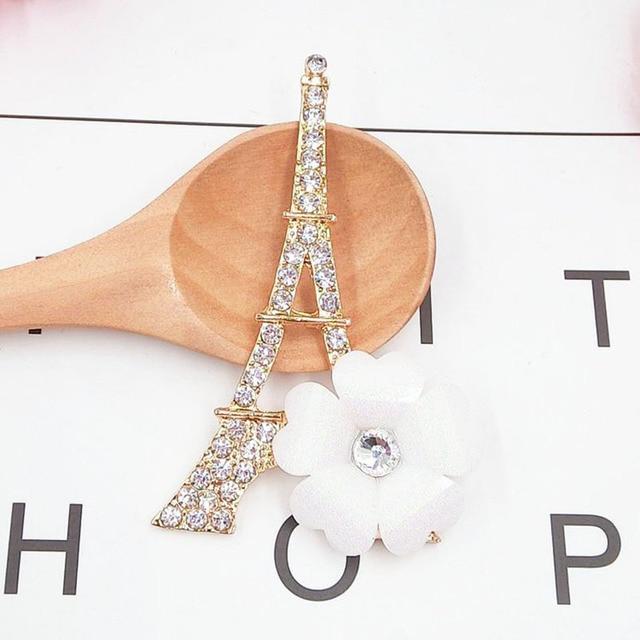 Dower Me Brand 2pcs Romantic Eiffel Tower Phone Drilling Mobile Phone DIY  Accessories Rhinestone Metal Mobile