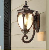 하이 엔드 야외 램프 정원 조명 방수 벽 램프 유럽 스타일 빈티지 벽 램프 포함 led 전구 무료 배송