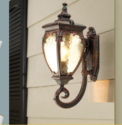 high-end udendørs lampe havemøbler vandtæt væglampe europæisk stil vintage væglampe Indeholder LED pære fri forsendelse