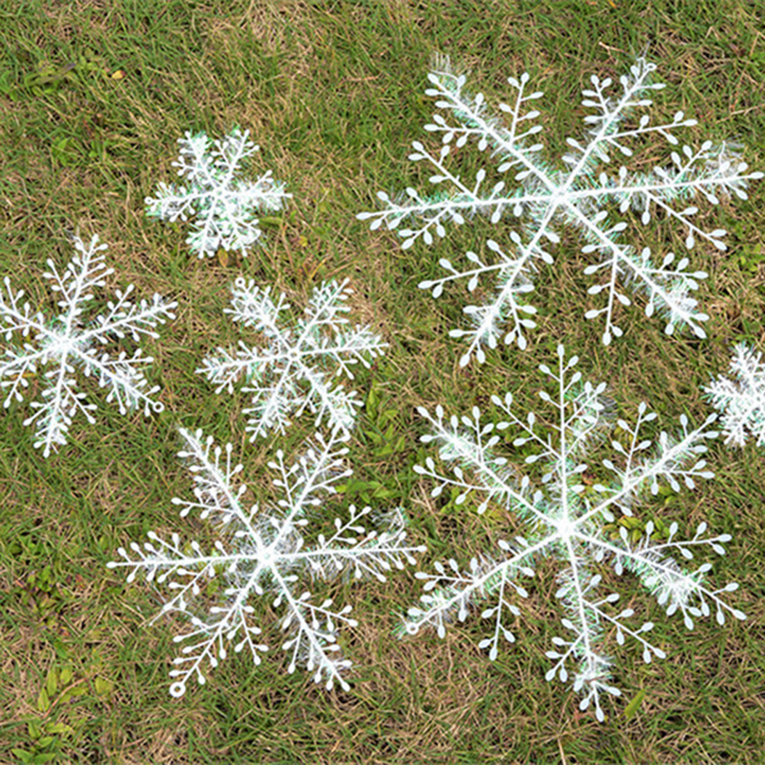 Free shipping 30Pcs Christmas Snowflake Decoration Plastic Snowflake Decor Christmas Ornaments