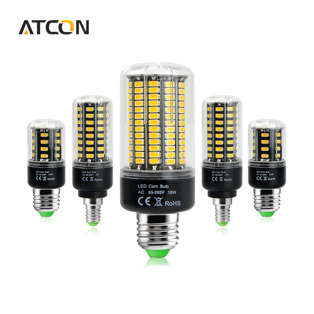 1pcs 5736 smd more bright 5730 5733 led corn lamp bulb light 3 5w 5w 7w 8w 12w 15w e27 e14 85v. Black Bedroom Furniture Sets. Home Design Ideas