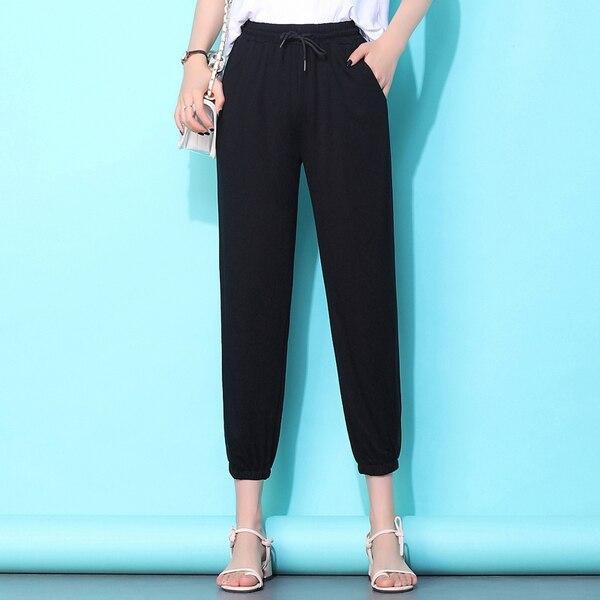 WYWAN noir auto ceinturé boîte plissé Palazzo Long pantalon femme lâche élégant OL travail pantalon femmes taille haute large jambe pantalon 4XL