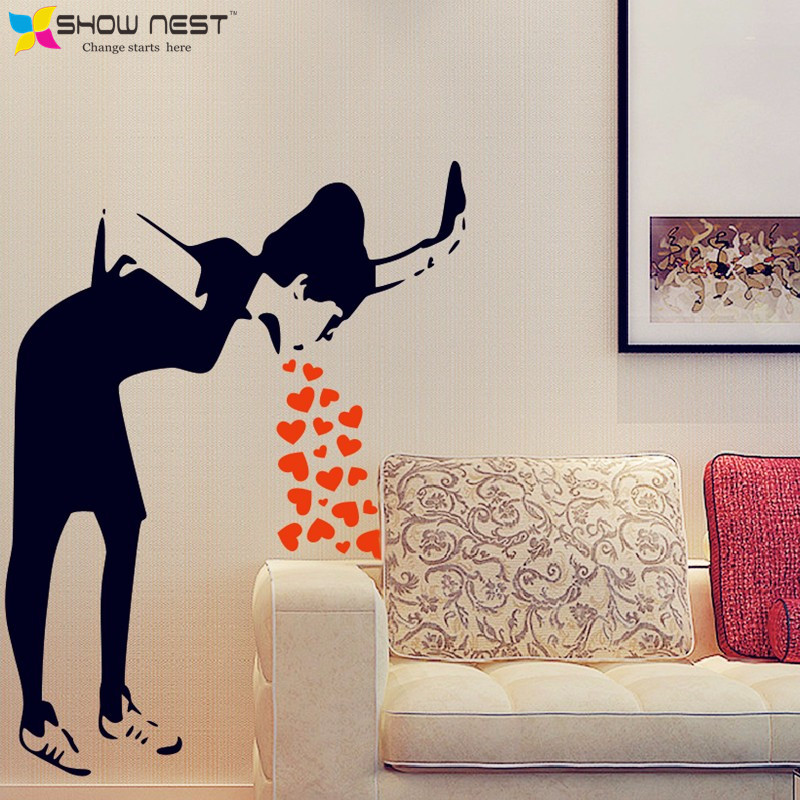 Panda Wall Sticker Bear Vinyl Decals Animal Decor Interior Design Dorm Room Art Mural Children Water 8paz By