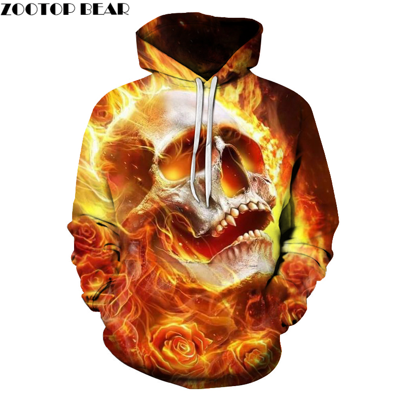 Rose Fireplace Cranium Print Mens Hoodie Autumn Winter Sweatshirts 2018 Males Clothes Tracksuit Streetwear Drop Ship ZOOTOP BEAR Hoodies & Sweatshirts, Low-cost Hoodies & Sweatshirts, Rose Fireplace Cranium Print...