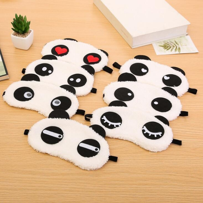 Ambitious 1pc Cute Sleep Mask Sleeping Face Eye Mask Lovely Panda Heart Pattern Blindfold For Traveling Sleep Eye Aid Tools Face Skin Care Tools