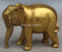 4 Chinese Feng Shui Bronze Brass Carving Auspicious Animal Elephant Statue