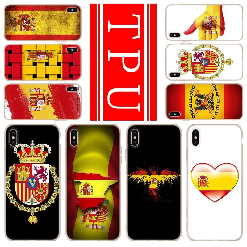 Мягкий чехол из ТПУ для iPhone 12 Mini 11 Pro XS Max XR X 8 7 6 Plus 5S SE S, чехол с испанским флагом 2020