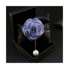 Корсаж брошь для мужчин щепка покрытием долго сплава булавки, броши цветок из ткани перл pins верхняя одежда женский свадебные украшения