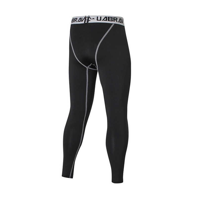 2018 черные мужские компрессионные Брюки повседневные штаны с надписью Капри колготки обтягивающие леггинсы Бодибилдинг мужские брюки 2XL 50