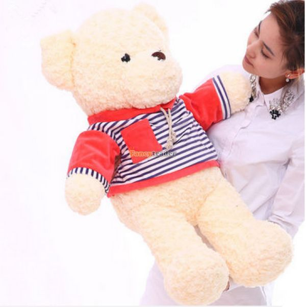 Fancytrader New Style! 47'' / 120cm Lovely Giant Stuffed Plush Funny Teddy Bear Toy, 4 Colors Available, Free Shipping FT50855 fancytrader new style teddt bear toy 51 130cm big giant stuffed plush cute teddy bear valentine s day gift 4 colors ft90548