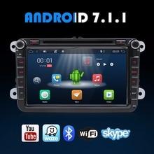 8-дюймовый Android 7.1.1 4 ядра VW Golf Polo Tiguan автомобильная магнитола с CD DVD MP3 MP5 плеер gps Navi Bluetooth WLAN 3g 4 г Wifi USB SD AUX
